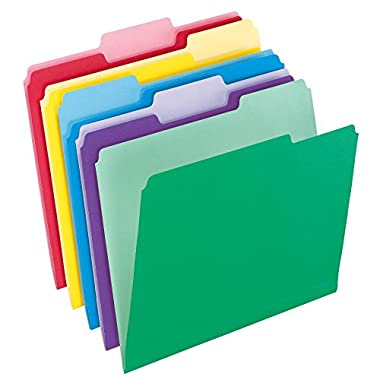Pendaflex File Folders with InfoPocket, Letter Size, 1/3 Cut, Assorted Colors, 30 Folders per Pack (2086)