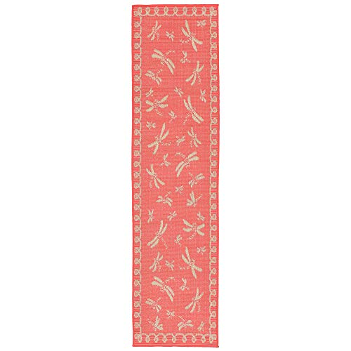 Liora Manne TERR8179127 1791/27 Coral Terrace Casual Dragonfly Indoor/Outdoor Runner Rug, 23