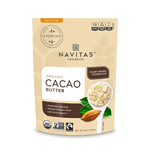 (Navitas Organics Cacao Butter, 8oz. Bag -  Organic, Non-GMO, Fair Trade,)