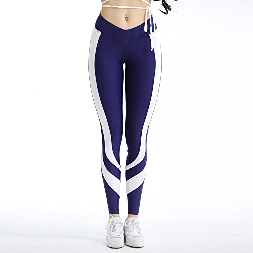 Londony 3D Print Leggings, Women Stripe Yoga Pants High Waist Sport Workout Running Power Flex Yoga Leggings Printed