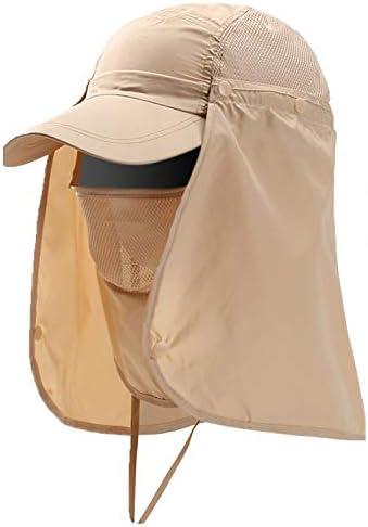WONDER LABO(ワンダーラボ) 日よけ帽子 メンズレディース兼用 360度UVカット 日除け 紫外線対策 首ガード キャップ ランニング 釣り アウトドア 農作業 ガーデニング 夏フェス に! [Y2]