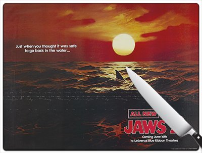 Movie Poster 42 - Jaws 2 Standard Cutting Board
