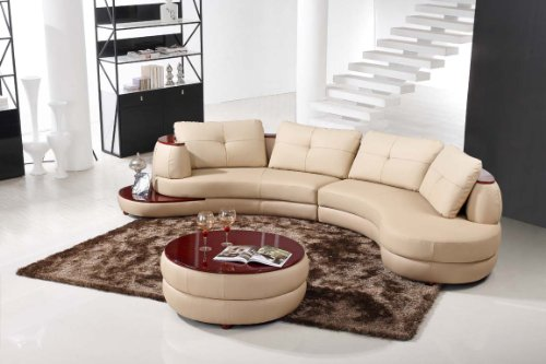 Modern Beige Sectional Sofa Furniture For Sale