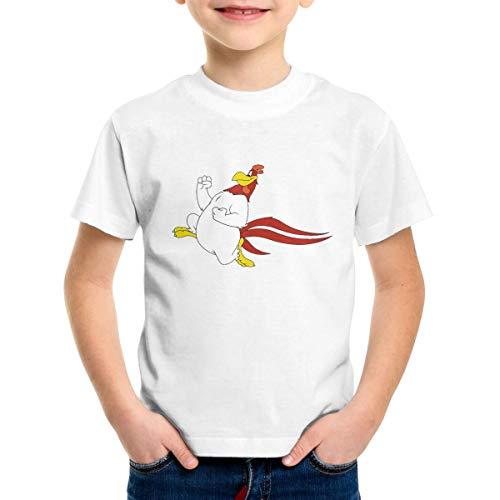 Patricia M Rivas Foghorn Leghorn Toddler Unisex Comfort Soft White Cotton Tees Shirt Tops 4T -