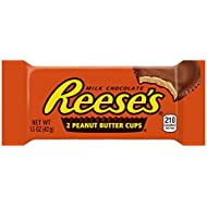 REESE'S Peanut Butter Cup, Milk Chocolate Covered Peanut Butter Cup Candy, 1.5 Ounce Package (Pack of 36)