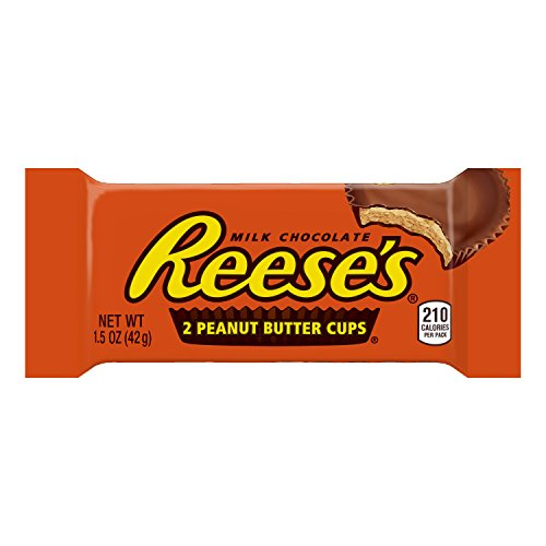 REESE'S Peanut Butter Cup, Milk Chocolate Covered Peanut Butter Cup Candy, 1.5 Ounce Package (Pack of 36) (Halloween Candy)