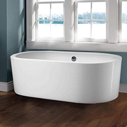 "70"" Lansdowne Acrylic Oval Freestanding Air Tub With Chrome Lift & Turn Drain"