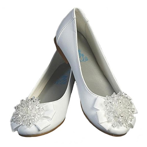 Girls Flats with Crystal Bead Bow (2, -