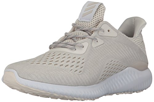 adidas Performance Women's Alphabounce Em w Running Shoe, chalk White/White/Pearl Grey, 9.5 Medium (Adidas Running Cushion)