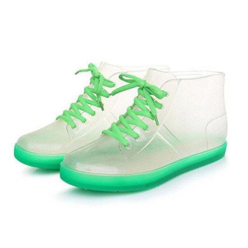 Meijunter Summer Women Transparent Candy Colors Rainboots Ladies Rubber Rain Boots Shoes Green PGHcI8mnLd