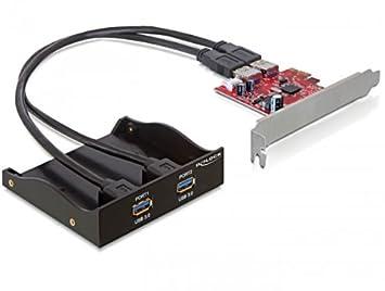 Delock USB 3 0 Front Panel 2-Port incl  PCI Express Card