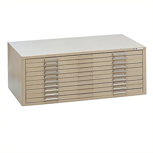 Mayline C-Files 10 Drawer Metal Flat Files Cabinet for 30'' x 42'' Documents - Sand Beige by Mayline