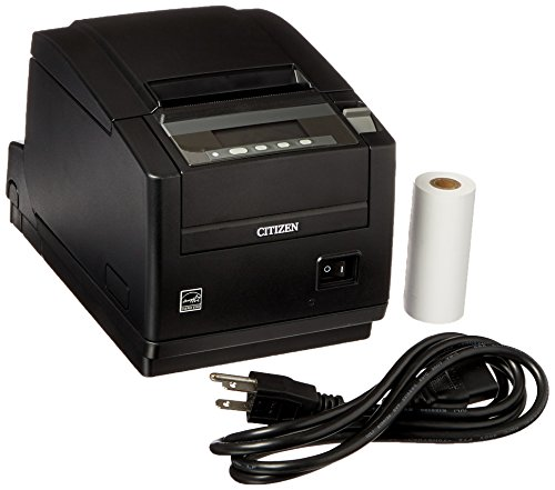 Citizen America CT-S801S3ETUBKP CT-S801 Series POS Thermal Printer with PNE Sensor, Top Exit, 300 mm/Sec Printing Speed, IEEE1284 Ethernet Connection, Black