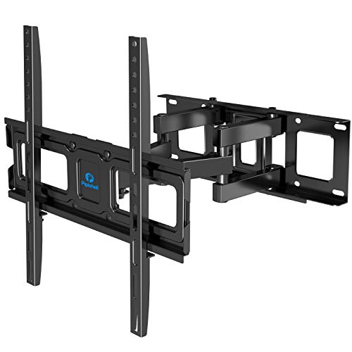 Full Motion TV Wall Mount Bracket Dual Articulating Arms Swivel Extension Tilt Rotation for Most 26-55 Inch LED, LCD…