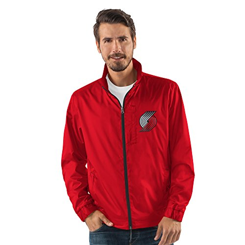 (G-III Sports NBA Portland Trail Blazers Men's Breaker Full Zip Jacket, X-Large,)