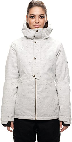 Womens White Poly Fill Jacket - 686 Women's Rumor Insulated Jacket, White Slub, Medium