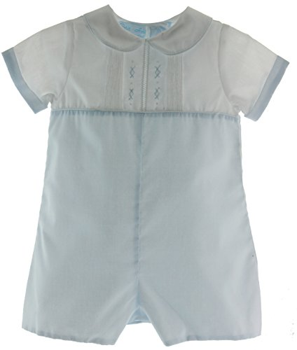 Boys Blue White Take Home Romper Outfit (NB)