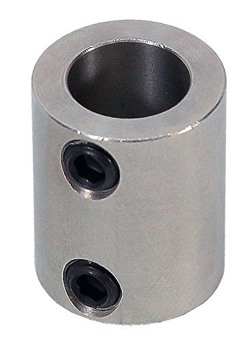 3/8 inch to 4mm Stainless Steel Set Screw Shaft Coupler ServoCity 625198