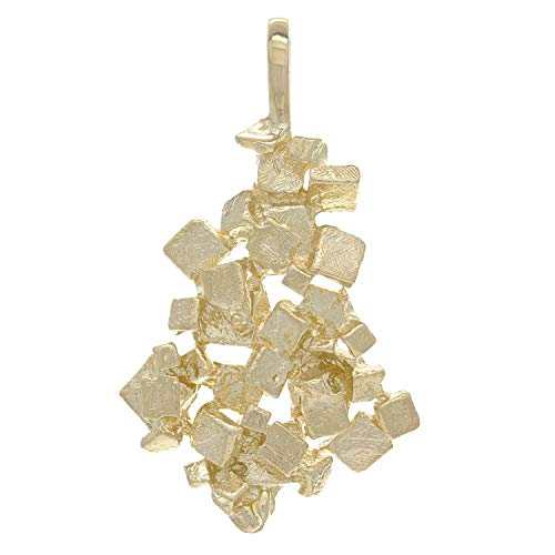 14K Yellow Gold Fused Cubic Gold Nuggets Charm or Pendant (2