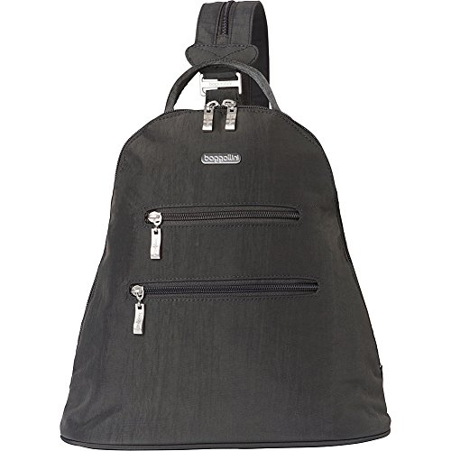 baggallini RFID Inspire Backpack (Charcoal/Fuschia)