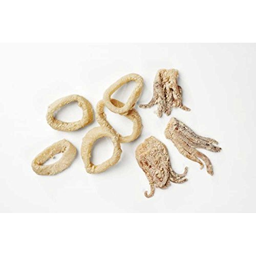 Pana Pesca Lightly Breaded Raw Squid/Calamari Ring and Tentacle, 4 Ounce -- 40 per case.