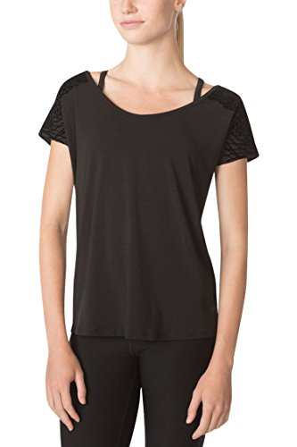 MPG Julianne Hough Women's Melody 2.0 Oversized Tee S Black