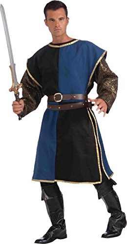 [Medieval Tabard Blue and Black, One Size] (Medieval Mens Costumes)