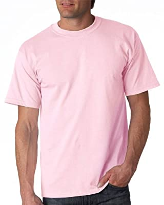 Gildan Adult Ultra Cotton T-Shirt, Light Pink, Large. 2000