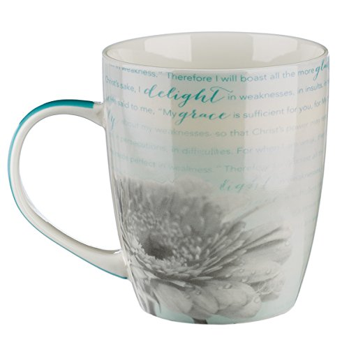 """His Grace Is Sufficient"" Inspirational Mug – 2 Corinthians 12:9-10"