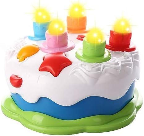 Amazon.com: Kids torta de cumpleaños Toy con música velas ...