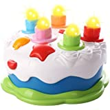 BAOLI Kids Birthday Cake Toy With Candles Music Pretend Play Food