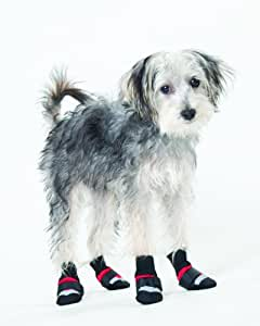 Fashion Pet Lookin Good Extreme All Weather Boots for Dogs, XX-Small, Red