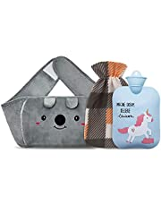 Hot Water Bottle Rubber Warm Water Bag with Soft Waist Cover,Hot Water Bag for Neck and Shoulder, Back, Legs,Waist Warm