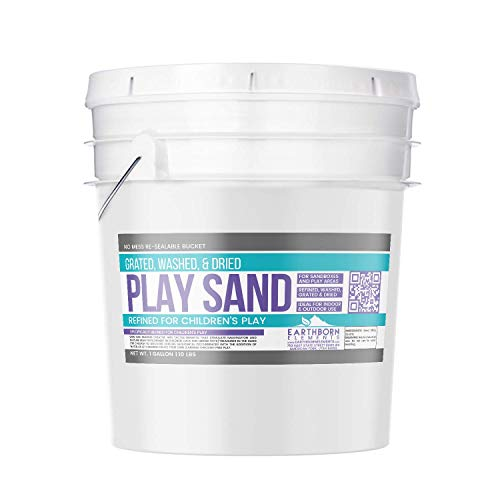 (Earthborn Elements Play Sand, 1 Gallon Bucket (10 lb),, Building & Molding, Promotes Creativity, Sandbox & Play Areas, Indoor/Outdoor, Resealable Bucket )