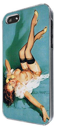 678 - Vintage Pin up Girl Sexy Design iphone 5 5S Coque Fashion Trend Case Coque Protection Cover plastique et métal
