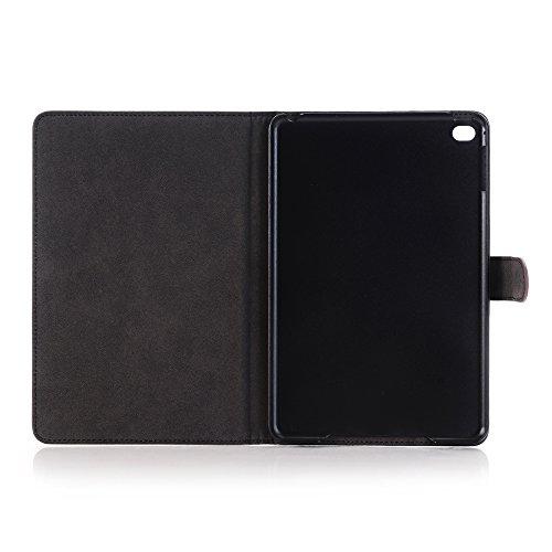 Mini iPad 5 Case 2019 Model, YiMiky Slim Folio Shell Smart Stand Case for 2019 Model iPad Mini 5 Ultra Slim Book Cover Protective Case for 7.9 Inch iPad Mini 5/ iPad Mini 4 2015 - Dark Brown by YiMiky (Image #1)