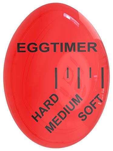Mevis Line Egg Timer | for Soft, Medium or Hard Boiled Eggs | Kitchen Gadget That Changes Color When Done, BPA ()