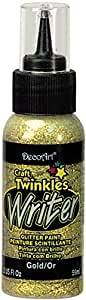 DecoArt Craft Twinkles Writers Paint, 2-Ounce, Gold