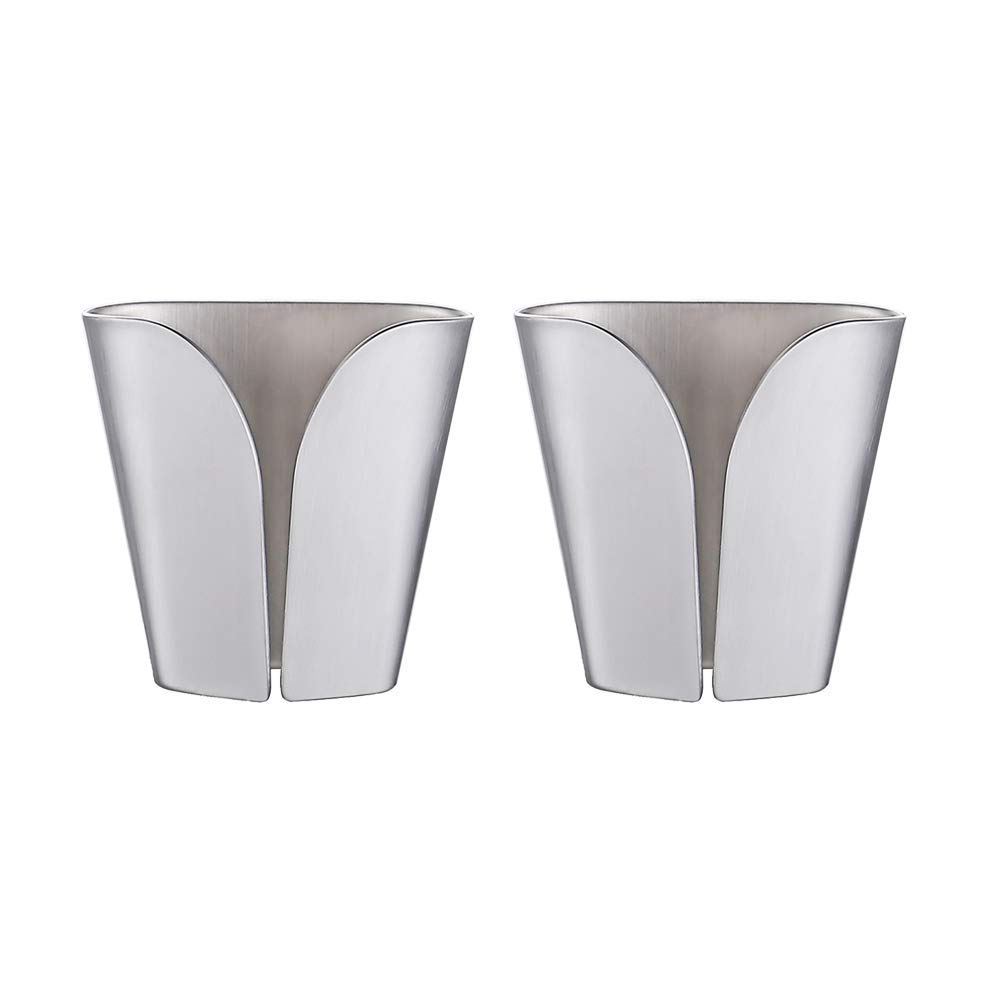 KES Kitchen Towel Hooks Self Adhesive Dish Towel Holder Hand Towel Hook Rack Hanger Ring RUSTPROOF Stainless Steel Brushed Finish 2 Pack, AH7201-2-P2