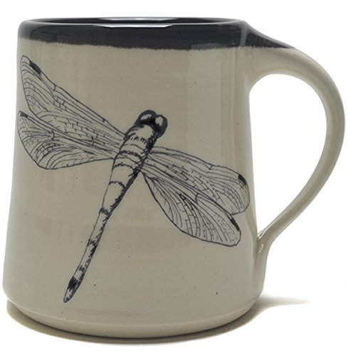 Great Bay Pottery Dragonfly Coffee Mug made in New Hampshire