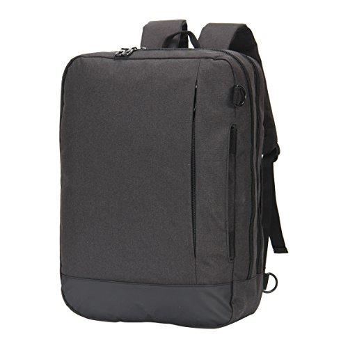 Hynes Eagle 4 in 1 Slim Convertible Laptop Backpack for 15 inches Messenger Bag Shoulder bag Multi-functional Briefcase (Black)
