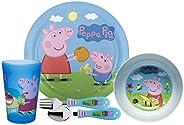 Zak Designs Dinnerware Includes Plate, Bowl, Tumbler and Utensil Tableware Made of Durable Material and Perfec