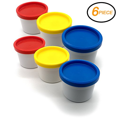 Emraw Assorted Color 3 Piece Set Washable Finger Paint Non-Toxic & Easy Take-Off Art Craft Tool 80ml - in Red, Yellow & Blue - for School & Home (2-Pack)
