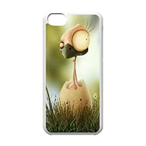 IPhone 5C Case, Mens Designer Freaky Chick Case for IPhone 5C {White}