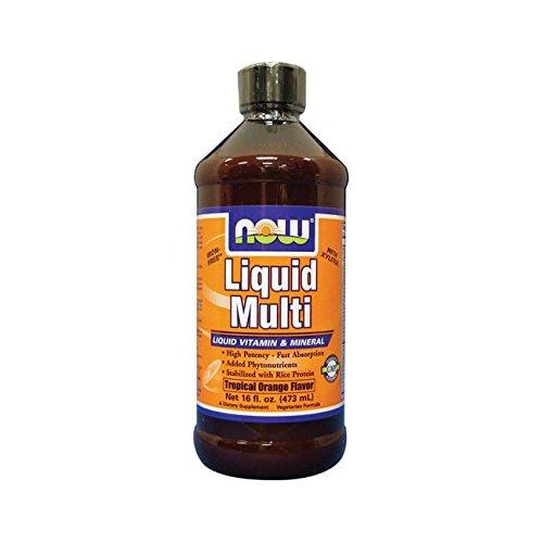(Now Foods Liquid Multi, Tropical Orange Flavor, 16 Ounces)