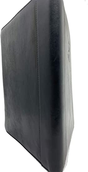 North Carolina Tarheels UNC Padholder Black Genuine Leather Padfolio