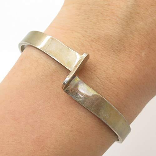 VTG Barra 925 Sterling Silver Modernist Cuff Bracelet 6