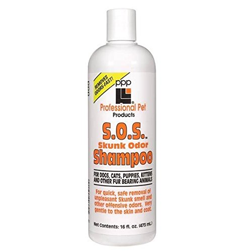SOS Skunk Odor Shampoo 16oz Bottle Concentrate Pet Grooming Bathing Dilutes 12:1