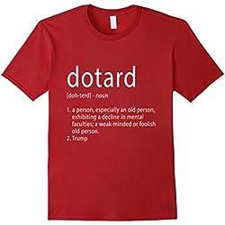 Mens Funny Anti Trump T Shirt Hate Resist Donald Democrat Impeach 2XL Cranberry
