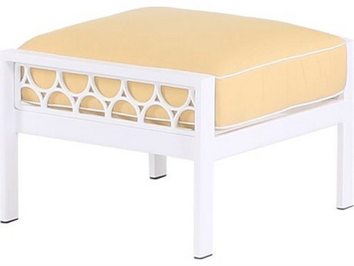 Parkview Cast Ottoman , DORSETT CHERRY-Textured White Frame (Parkview Cast)